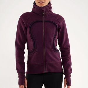 Lululemon cuddle up Sherpa jacket sweatshirt sz 4